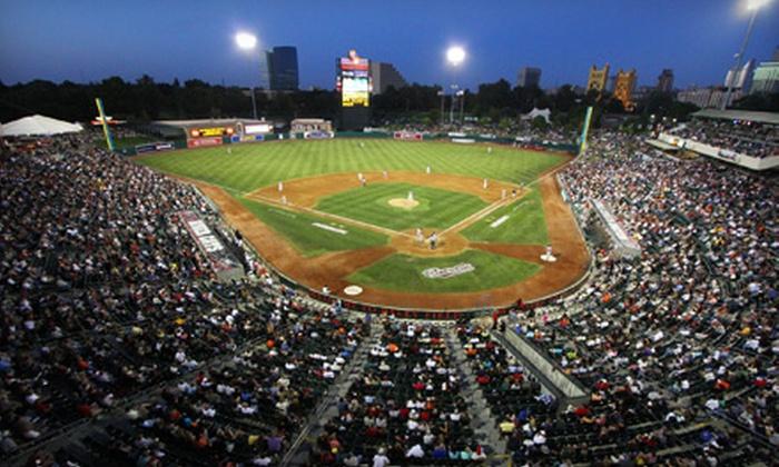 Sacramento River Cats - Raley Field: Sacramento River Cats Baseball Game at Raley Field on June 24, 25, 27, or 28 (48% Off)