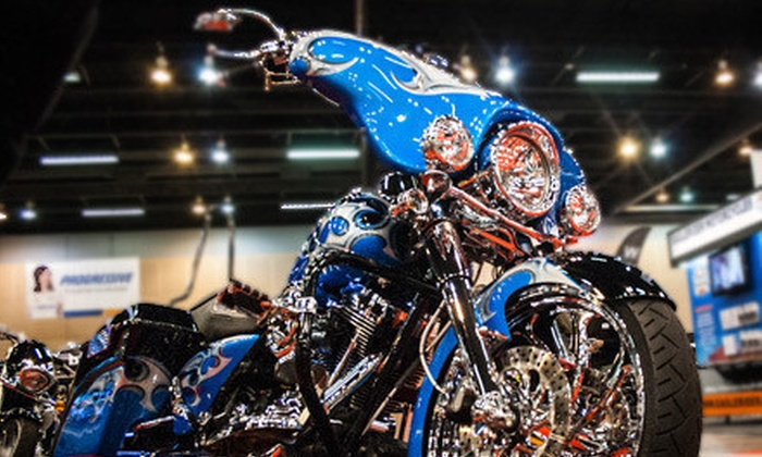 Progressive International Motorcycle Shows - Second Ward: Progressive International Motorcycle Shows Admission Package for One or Two to on February 22, 23, or 24 (Up to 56% Off)