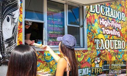 Food Truck Festival Ontario for Two or Five at Downsview Park on Sunday, September 27 at 1 p.m. (Up to 46% Off)
