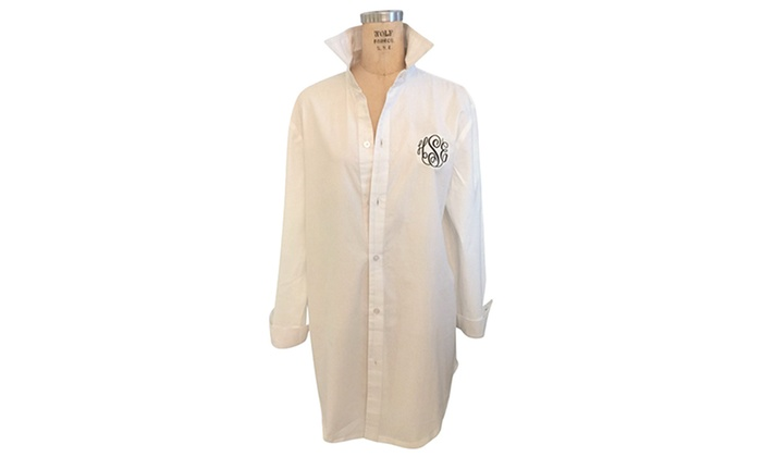 Social Monograms: $27.99 for a Monogrammed Boyfriend Shirt from Social Monograms ($60 Value)
