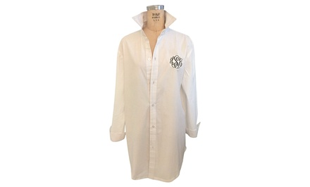 $27.99 for a Monogrammed Boyfriend Shirt from Social Monograms ($60 Value)