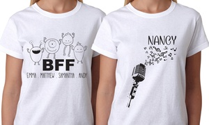 Monogram Online: One or Two Personalized T-Shirts for Men, Women, or Kids from Monogram Online (Up to 83% Off)