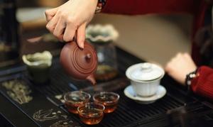 Tai Chi Teehaus: Chinesische Teezeremonie mit Verkostung edler Teesorten für 1, 2 oder 4 Personen im Tai Chi Teehaus (bis zu 50% sparen*)
