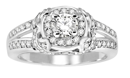 14K White Gold Diamond Engagement Rings or Bridal Ring Sets. Multiple Styles from $579.99–$999.99.