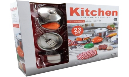 toy stainless steel kitchen set groupon goods