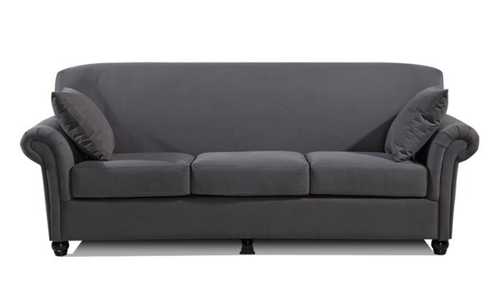 Zhelin Microfiber Sofa Groupon