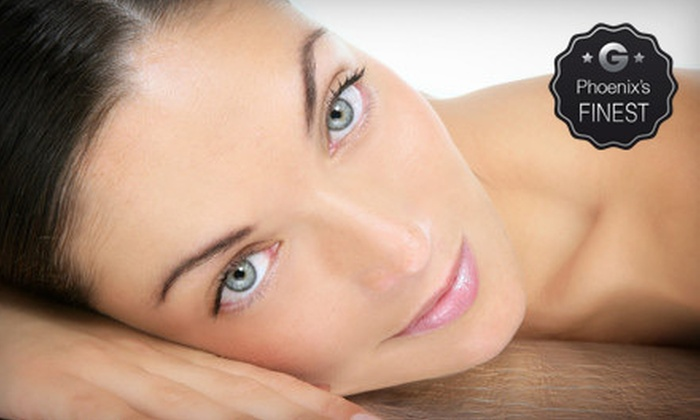 White Lotus Salon and Spa - Western Skies Village: $199 for Permanent Eyebrow Makeup and a European Express Facial at White Lotus Salon and Spa ($400 Value)