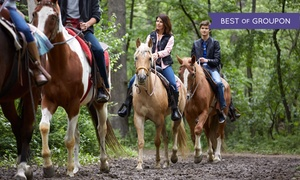 The Ranch at Bandy Canyon: Horseback Trail Ride for One or Trail Ride with Wine for Two or Four at The Ranch at Bandy Canyon (Up to 57% Off)