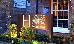 The House Restaurant and Wine Bar: Up to  £80 To Spend on Dining For Up to Four at The House Restaurant and Wine Bar