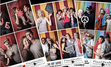 Flashtastic Photo Booth: 2-Hour Photo-Booth Rental and Instant Prints for Up to 100 People - Flashtastic Photo Booth in