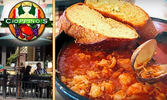 Cioppino's  - Fisherman's Wharf: $20 for $40 Worth of Fresh Italian Seafood, Drinks, and More at Cioppino's