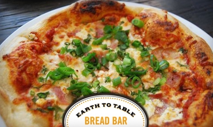 Earth to Table Bread Bar - Kirkendall North: $12 for $24 Worth of Take-Out Pizza from Earth to Table Bread Bar in Hamilton