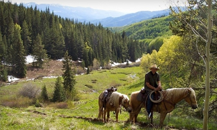 Vail Stables - Minturn-Red Cliff: $30 for a One-Hour Guided Horseback Trail Ride at Vail Stables ($60 Value)