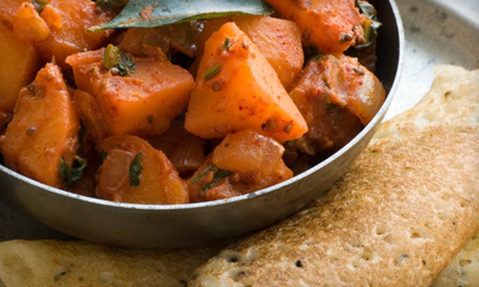 Banana Leaf - Linworth Village: Three-Course Indian Meal for Two or $8 for $16 Worth of Vegetarian Indian Fare at Banana Leaf