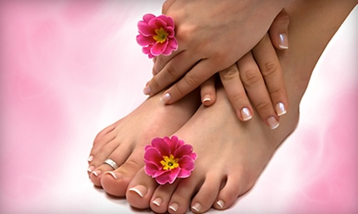 Serene Scene Morning Spa - Clayton: $45 for a Shellac Eco Manicure and a Cupcake Pedicure at Serene Scene Morning Spa in Clayton ($105 Value)