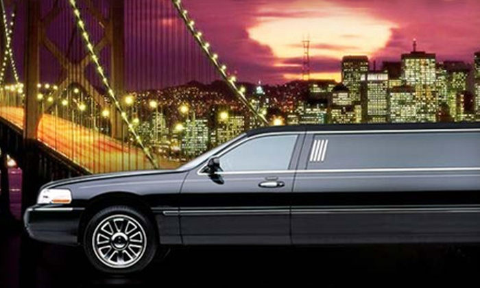 Ecko Limousines - Multiple Locations: Luxury Airport Transportation for Up to Four or Limousine-Ride Packages for Up to 10 from Ecko Limousines