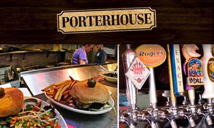 The Porterhouse - North Admiral: $15 for $30 Worth of West Coast Ales and Meals at Porterhouse