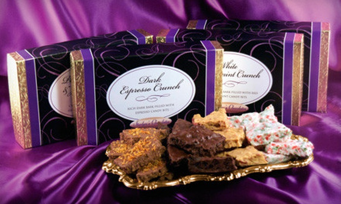 Starlyn's Chocolates - Park Hill,Knob Hill: $30 for Four Boxes of Distinctly Decadent Creamy Bark Combinations at Starlyn's Chocolates (Up to $60 Value)