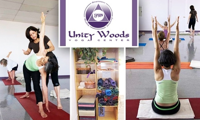 Unity Woods Yoga Center - Multiple Locations: $32 for Four Drop-In Classes at Unity Woods Yoga Center