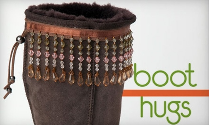 Boot Hugs: $20 for Two Pairs of Fashionable Footwear Accessories from Boot Hugs ($40 Value)