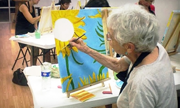 Paint the Towne - Cambridge: $20 for a BYOB Painting Class at Paint the Towne (Up to $45 Value)