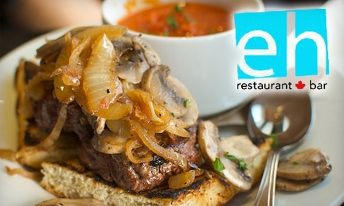 eh! restaurant - Vancouver: $5 for $11 Worth of Sustainable Fare and Drinks at Eh! Restaurant