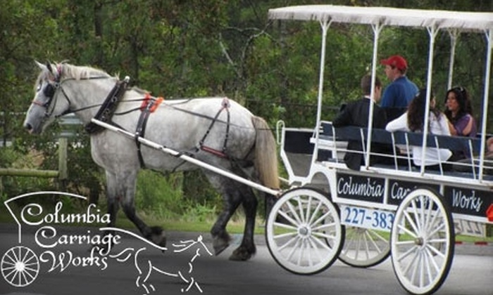 Columbia Carriage Works - The Congaree Vista: $10 for a 30-Minute Horse-Drawn Carriage Ride for Two People with Columbia Carriage Works (a $20 value)