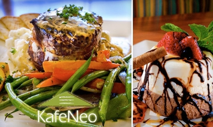 KafeNeo - Belmont Heights: $10 for $20 Worth Of Modern Greek Fare and Drinks at KafeNeo in Long Beach