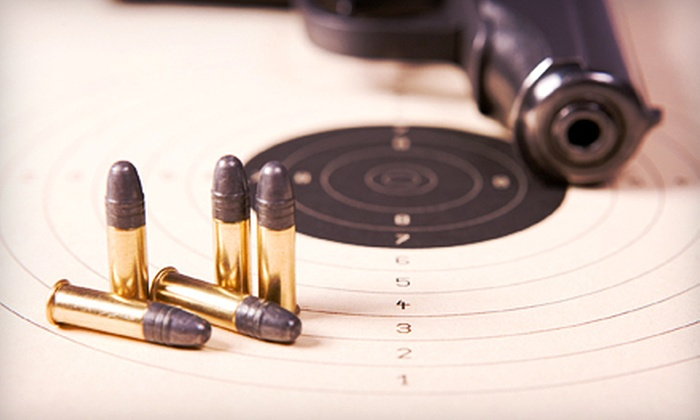 Guns and Leather - Multiple Locations: Shooting-Range Package for Two or Four with Firearms, Ammo, and Targets at Guns and Leather (Up to 55% Off)