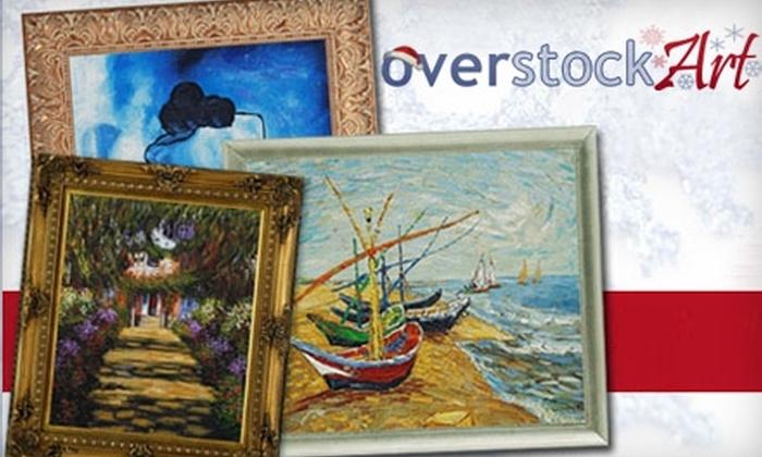 overstockArt.com: $49 for $120 Worth of Hand-Painted Art from overstockArt.com