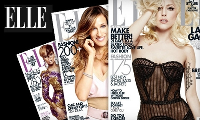 """Elle"" Magazine  - Milpitas: $13 for a Two-Year Subscription to ""Elle"" Magazine ($16 Value)"
