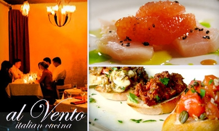 Al Vento - Keewaydin: $25 for $60 Worth of Southern Italian Fare at Al Vento