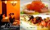 Al Vento - Keewaydin: $25 for $60 Worth of Southern Italian Fare at Al Vento