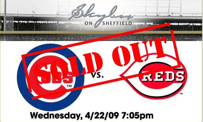 Skybox on Sheffield - Lakeview: Rooftop Tickets - Cubs vs Reds 4/22 - $59