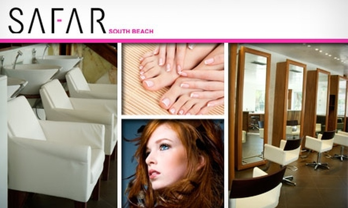 Safar - South Pointe: $35 for a Mani-Pedi and a Blow-Dry at Safar Miami ($75 Value)