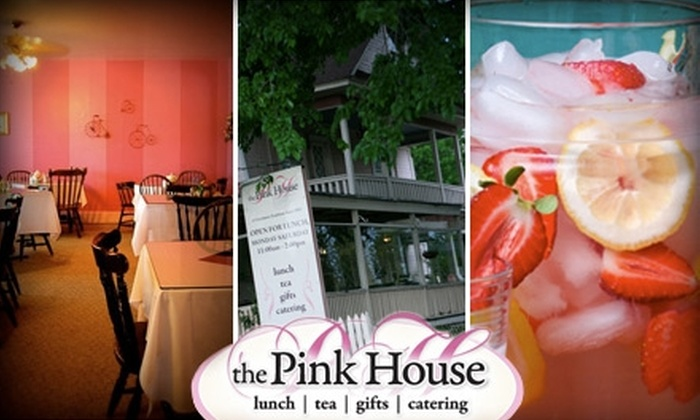 The Pink House - Claremore: $7 for $15 Worth of Lunch Fare plus a Pot of Tea at The Pink House in Claremore ($18 Value)