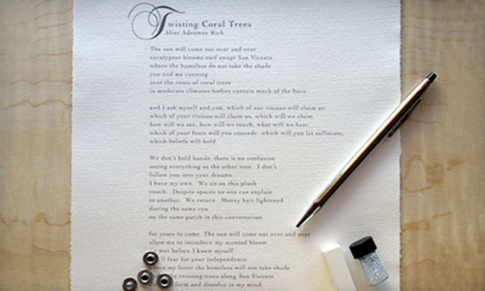 Poetry Salon: $95 for a Personalized Poem from Poetry Salon ($275 Value)
