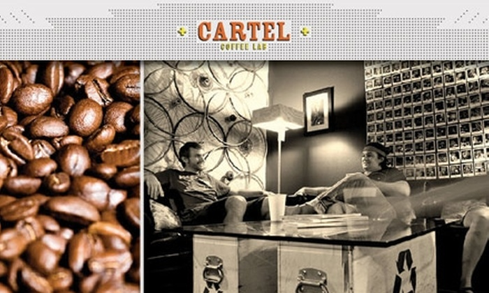 Cartel Coffee Lab - Maple-Ash: $16 For Two 12-Ounce Bags of Fresh-Roasted Coffee and Two 8-Ounce Cups of Coffee or Lattes from Cartel Coffee Lab (Up to $32 Value)