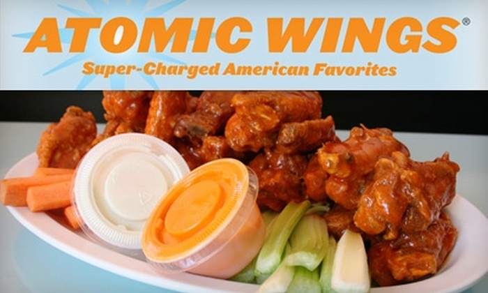 Atomic Wings - Multiple Locations: $12 for $25 Worth of Buffalo Wings, Drinks and More at Atomic Wings. Choose from Two Locations.