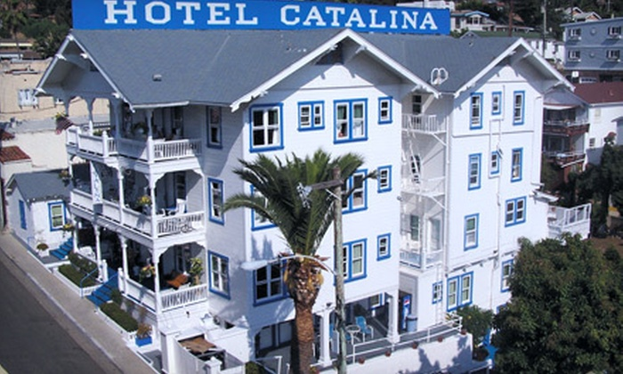 Hotel Catalina - Avalon: One-Night Package with Mountain-View Room at Hotel Catalina in Avalon (Up to 51% Off). Two Options Available.