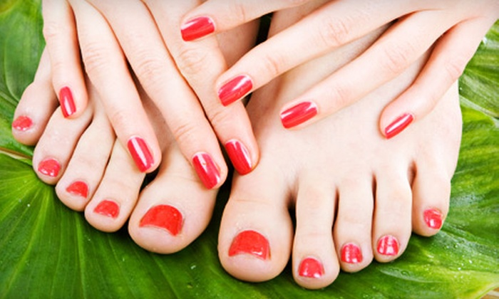 Ibiza Nails & Skin Care and The Finest Nails - Multiple Locations: $35 for a Shellac Manicure and European Pedicure at Ibiza Nails & Skin Care and The Finest Nails in Laguna Niguel