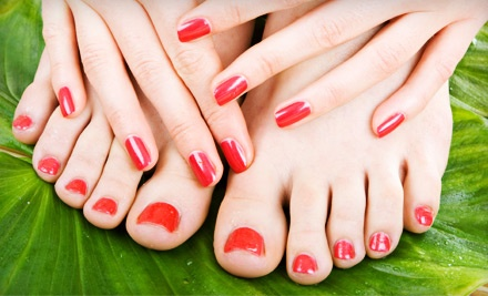 Shellac Manicure and European Pedicure (a $70 value) - Ibiza Nails & Skin Care and The Finest Nails in Laguna Niguel