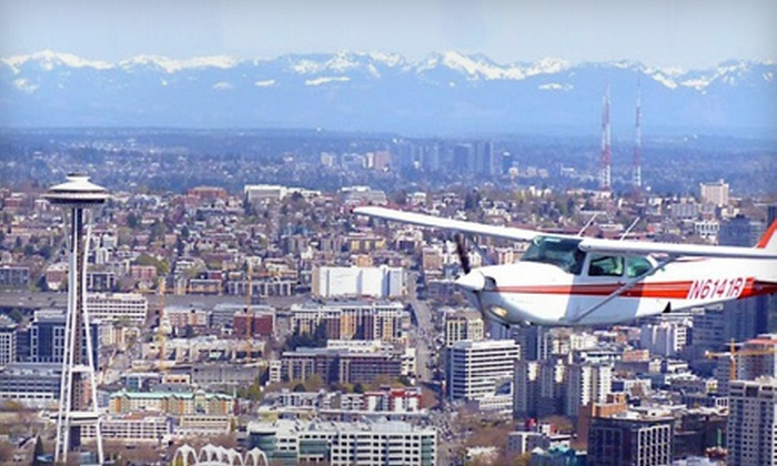 Seattle Scenic Flights - Georgetown: Half-Hour Sightseeing Tour with Champagne for Up to Three or Up to Five People from Seattle Scenic Flights (Half Off)