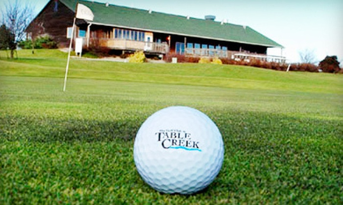 Table Creek Golf Course - Table Creek Golf Course: $20 for 18-Hole Golf Outing for Two with Range Balls at Table Creek Golf Course in Nebraska City (Up to $58 Value)