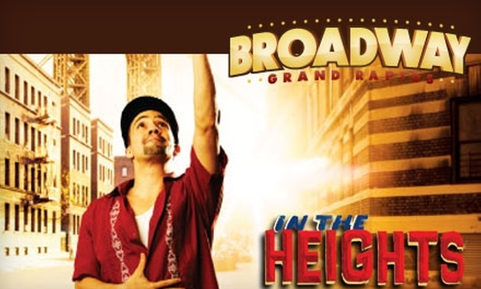 """Broadway Grand Rapids - Belknap Lookout: $67 for Two Tickets to """"In the Heights"""" Presented by Broadway Grand Rapids (Up to $140.50 Value). Choose from Three Performances."""
