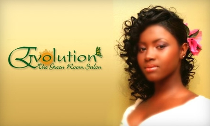 Evolution The Green Room Salon - Boerum Hill: $20 for an Express Mani-Pedi ($40 Value) or $37 for a Hair Treatment ($75 Value) at Evolution The Green Room Salon
