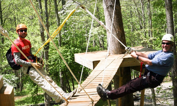 Vance Toe River Lodge - Plumtree: $79 for Zipline Tour for Two at Vance Toe River Lodge in Plumtree