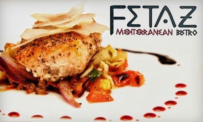 Fetaz Mediterranean Bistro - Green Bay: $15 for $30 Worth of Sandwiches, Tapas, and More at Fetaz Mediterranean Bistro