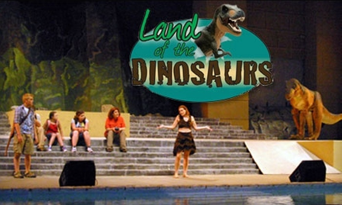 Land of the Dinosaurs - Glen Rose: Half Off a Ticket to the Land of the Dinosaurs Show. Adult and Child Tickets Available.