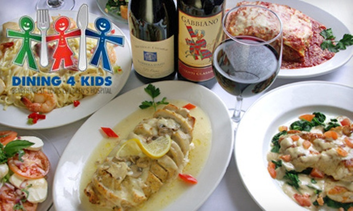 Mama's On The Hill - The Hill: Italian Fare for Lunch or Dinner at Mama's on the Hill. 25% of Proceeds go to St. Louis Children's Hospital.